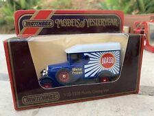 Matchbox Lesney Models Of Yesteryear Y19 C1 1929 Morris Cowley Van Brasso Metal