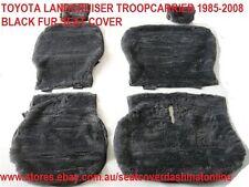 BLACK  FUR SEAT COVER TOYOTA LANDCRUISER TROOP CARRIER 85-08,75,78,79 SER,BLACK
