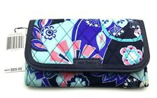 Vera Bradley Trimmed Wristlet in Lotus Flower Swirl - Faux Leather Trim - New