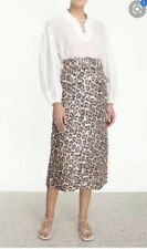 Zimmermann bonita Leopard Skirt Size 2 LINEN  2020 Collection