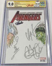 Avengers #1 Signed by Stan Lee / Hemsworth Thor / Ruffalo Hulk / Waititi CGC SS