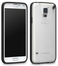 PureGear Slim Shell Black/Clear Case Hard Cover per Samsung Galaxy S5 SM-G900