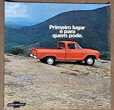 c1973 Chevrolet C10 Pick-up (Pickup) original Brazilian sales brochure
