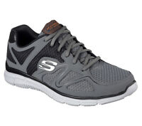 58350 W Wide Fit Charcoal Skechers shoe Men Comfort Mesh Train Sport Memory Foam