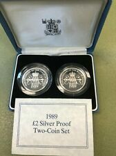 1989 GREAT BRITAIN £1 ✪ SILVER PROOF COIN ✪ UK UNITED KINGDOM POUND ◢TRUSTED◣