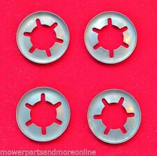 "4 x 1/2""  LAWN MOWER WHEEL RETAINING CLIPS ROVER , MASPORT , HONDA & OTHERS"