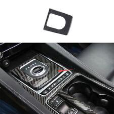 Real Carbon Fiber Central Console Gear Shift Panel Trim For Jaguar XE 2016-2019