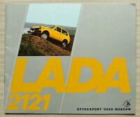 LADA 2121 Car Sales Brochure 1978 #032924