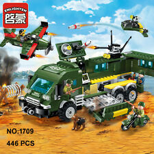 Enlighten Military Army Armored Car Airplane Building Block Toy  Bricks Toys
