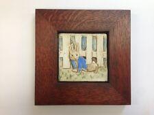 B.A. Schmidt Peter Under the Fence Art Tile Family Woodworks Arts & Crafts Frame