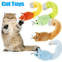 FJ- Cute Creative Pet Cat Chew Long Tail Mouse Mice Catnip Teaser Playing Plush