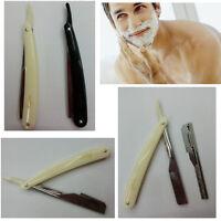 Straight Edge Stainless Steel Barber Razor Folding Shaving Shave Knife CreamHUUS