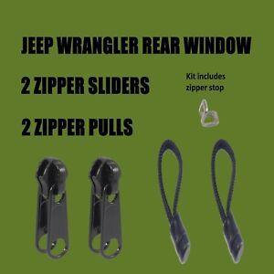 Jeep Wrangler Rear Window Zipper Sliders and Heavy Pulls TJ/JK
