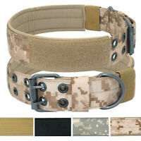K9 Military Tactical Dog Collar MOLLE Training Hunting Adjustable POLICE Pitbull