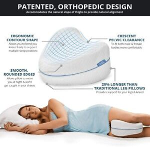 Contour Legacy Memory Foam Leg & Knee Side Sleeper Pillow for Comfort & Relief