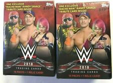 2018 TOPPS WWE BLASTER BOXES  ( 2 BOX LOT ) SALE!