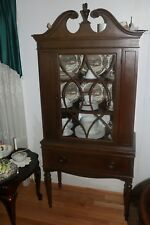 Rare Federal Style glass China Cabinet solid Mahogany !