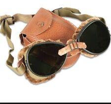 Genuine U.S. Army WWII Ski Mountian Goggles 10th Mountain Division