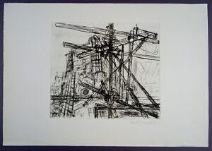 Rudolf Hradil Konstruktion Radierung 1960 handsigniert