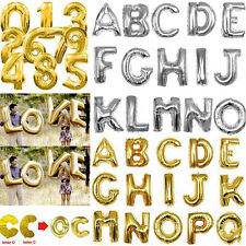 """Hot Gold Silver 16"""" 40'' Alphabet Letter Number Foil Balloon Wedding Party Name"""