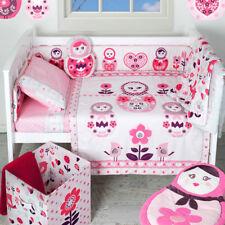 Living Textiles ADELE 6 Piece Cot Quilt Nursery Set