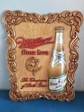 (Vtg) 1952 Miller high life beer girl on the moon 3-D back bar advertising sign