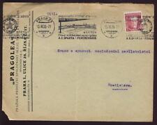 CZECHOSLOVAKIA 1935 COVER SPARTA FOOTBALL SLOGAN CANCEL