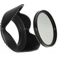 49mm Polfilter CPL Filter & Sonnenblende lens hood Green.L Einschraubanschluss