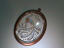 Fabulous Vintage Intaglio Crystal of Fancy Peacock In Old Bronze Setting (6