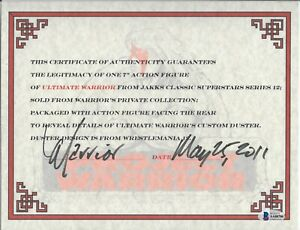 Ultimate Warrior signed 8x11 Certificate of Authenticity WWF WWE bas  d.2014