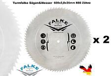 2 x CV Kreissägeblatt 600 mm 35 mm B80 Spitzzahn Sägeblatt