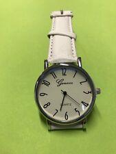 Trendy Heren business quarts horloge wit met extra batterij, Kerst cadeau tip