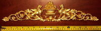 LARGE FRENCH ANTIQUE EMPIRE GOLD GILT DORE RESIN WALL MIRROR MOULDING DECORATION