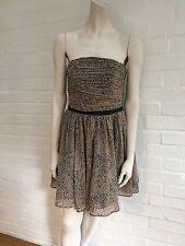 Guess Los Angeles Black Dots Strapless Tie Back Mini Dress sz S Small