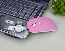 Retractable Wire Mini Slim USB Optical Scroll Mouse Mice for Computer Desktop PC