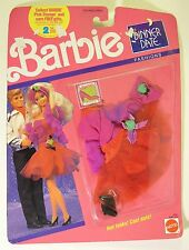 Vintage Barbie Dinner Date Fashions Dress Shoes Headband 1989 NRFB