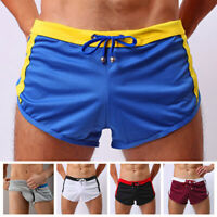 Men Casual Workout Trunks Low Waist Knickers Shorts Sports Gym Boxers Underwear