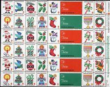 1984 USA Christmas Seal (Santa) Sheet of 36 + 6 Labels . Mint Never Hinged