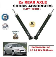 FOR DAEWOO KALOS 1.2 1.4 16V 2002->on REAR AXLE LEFT & RIGHT SHOCK ABSORBERS SET