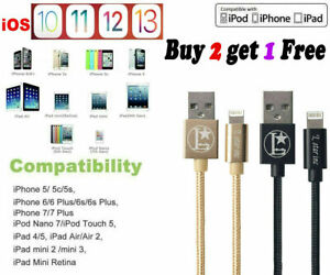 For 8Pin iPhone Charger USB Cable Cord for iPhone 6 7 8 Plus iPhone 11 XR Xs Max