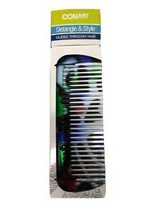 CONAIR WIDE-TOOTH COMB Detangle & Lift Great for THICK HAIR~ BLACK / MultiA2