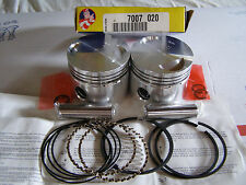 Norton Commando  Norton 750cc + .040 Piston set (2) with Hastings rings  stk140H