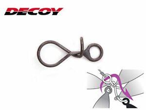 Decoy Spiral Snap Gr.1 / 6,3kg 6 Stück Matt Schwarz Black NEW OVP