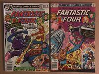 Fantastic Four 204 & 205 first printing 1979 Marvel Comic Books 1st Nova Corps