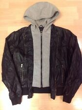 Women's Faux Leather Jacket CARBON Size S