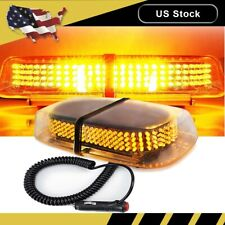 240 Led Amber Roof Top Emergency Warning Flash Strobe Light Bar Lamp Yellow 12V