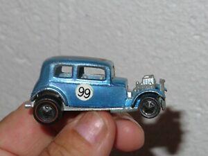 RARE~Vintage 1968 RedLine Hot Wheels Chrome Blue CLASSIC 32 FORD VICKY~VERY NICE