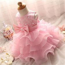 Toddler Girl Dress Baby Girls Princess Tutu Baptism Gown 1st Birthday Kids Party