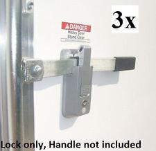 3- KEYED ALIKE Self Locking Cargo Trailer Cambar Door Latch Vise Lock Cam Bar