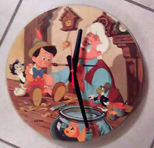 "DISNEY* PINOCCHIO-12"" PICTURE DISC CLOCK--GREAT GIFT!*FREE SHIPPING!!-"